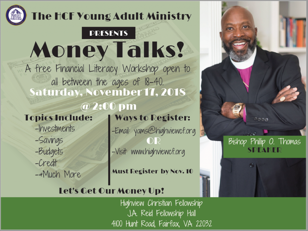 HCF Young Adults Presents Money Talks